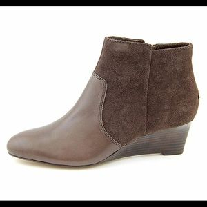 Coach Brown Mystic Wedge Ankle Booties 8.5